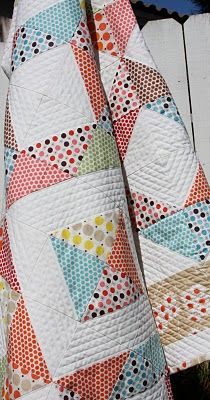 quilting patterns, polka dots, white space, izzi inspir, half square triangles