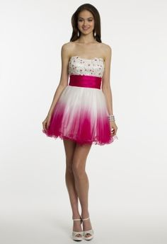 Ombre Party Dress with Corset Tie from Camille La Vie and Group USA