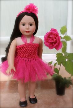 Designer tutu Dresses for American Girl Dolls are at www.harmonyclubdolls.com