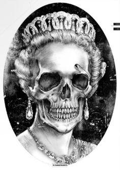 skulls, queens, skull queen, calavera, the queen