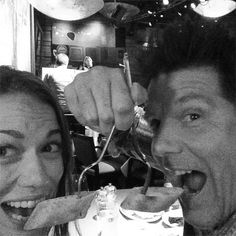 Bethany Joy Lenz and Paul Johansson having dinner!