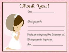 primera comunion, 1st communion, etsi, communion girl, first communion thank you, favor tag, thank you cards communion, communion idea, girl favor