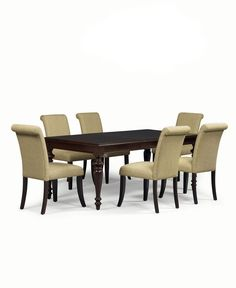 Bradford 7 Piece Dining Room Furniture Set With Upholstered Chairs