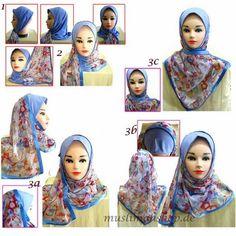 Ilovehishma: GUIDE: How to Wear Mona/Kuwaiti Hijabs Tutorial hijab scarf, style guid, muslim hijab, tutori hijab, hijabs, hijab tutorial, scarf tutori, hijab styles, muslim style