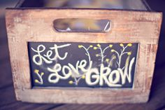 could put packets of seeds in it as a party favor. love for a garden wedding/reception