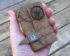 Steampunk mini journal by MyHandboundBooks, via Flickr
