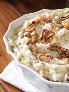 Garlic Mashed Potatoes with Fried Shallots