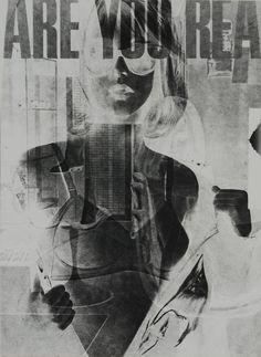 "Robert Heinecken, ""Are You Rea #1″ (1964–68), lithograph (© 2013 The Robert Heinecken Trust) (via moma.org)"
