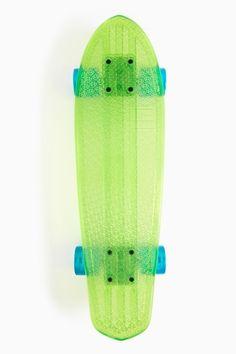 Bantam Beach Glass Skateboard in Lime by #Globe