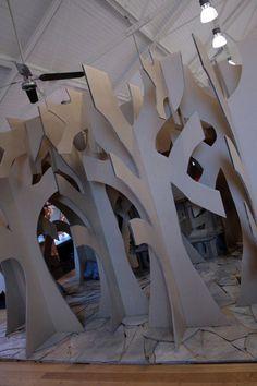 Cardboard forest. School set idea