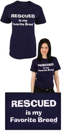 Rescued Is My Favorite Breed T-Shirt - Purchase funds 14 bowls of food for shelter animals!