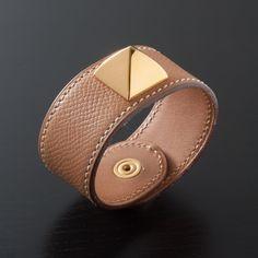 Brown Leather Bangle.