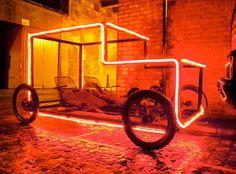 Go Vintage! Illuminated Pedal Powered Car