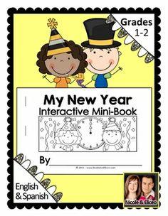 Interactive Mini-Book - My New Year classroom idea, kindergarten winter, work idea, three rs, januari idea