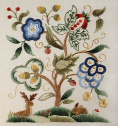 I just love the richness of crewelwork.