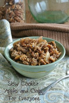 Slow Cooker Apples and Oats