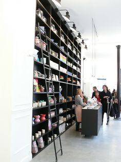 Wall of shelves Shopper's Diary: Bonton in Paris