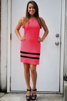 Miss Congenialty Dress: Neon Pink #shophopes