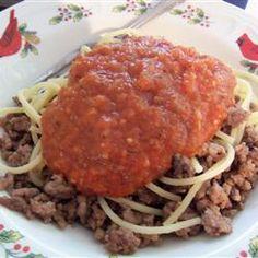 Basic Spicy Tomato Sauce Allrecipes.com
