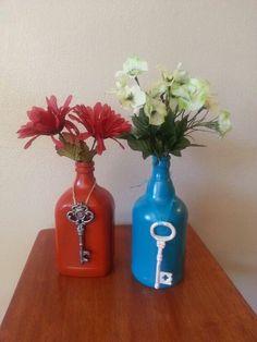 wine bottle crafts | Skeleton Key Wine Bottles | Craft Ideas