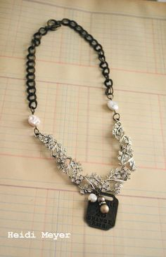 Jeanette repurposed necklace #industrialchic