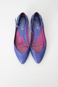Vintage Purple Balerina Flat Shoes by cocoandorange on Etsy