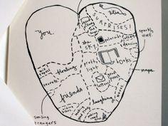 Valentine love note card via Etsy.