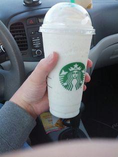 Vanilla Bean Frappachino-MY FAVORITE DRINK FROM STARBUCKS!!!!!! I love it!!