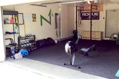 Rubber flooring for home gym to add comfort and durability underfoot  I  Home gym ideas