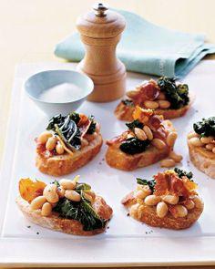 Kale, White Bean, and Prosciutto Crostini Recipe