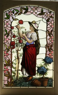 antique stained and beveled glass