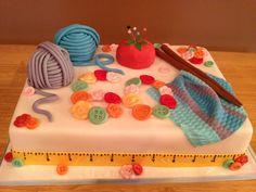 Knitting Themed 60th Birthday Cake