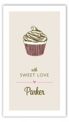 Not mad about the cupcake picture but like the font and how simple/pretty it is