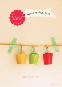 willowday: Paper Cup Apple Gift Wrap