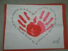 Valentine handprint art