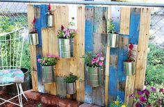Pallet Vertical Garden with Pots