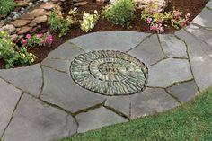 idea, pebbl mosaic, mosaics, garden paths, pebble mosaic, old houses, mosaic stepping stones, backyard gardens, art tutorials
