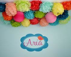 Project Nursery - Wall Decal & Poms