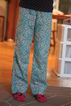 sewing: double gauze pj pants || imagine gnats