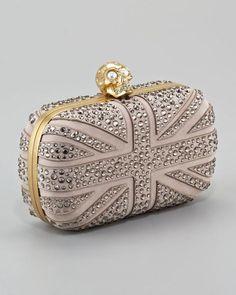 Alexander McQueen  crystal box clutch