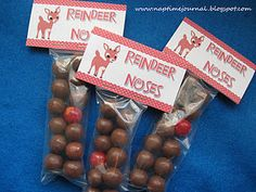 Reindeer noses for school party