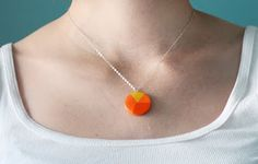 Make pie chart paper pendants | How About Orange