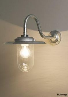 Large well-glass exterior lights, Swan neck wall lights, Classic exterior lighting, Exterior lighting, Holloways of Ludlow