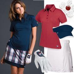 golf outfit, fashion, plaid golf, geneva plaid, golf skort, style