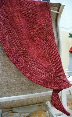 Simple Crescent shaped knit shawl -  any yarn, any needle, any size.