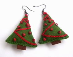 Christmas tree earings