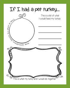 If I Had A Pet Turkey... - Thanksgiving Activity & Bulletin Board