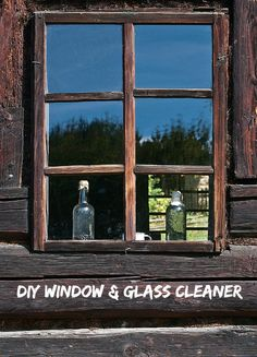 DIY homemade window and glass cleaner.  Clean your windows for pennies!  http://thegardeningcook.com/diy-homemade-window-cleaner/