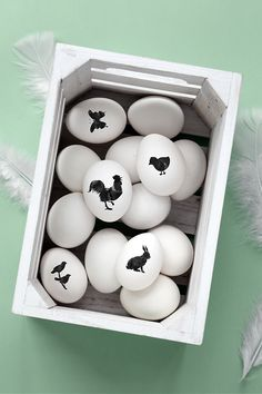 Simple black print eggs