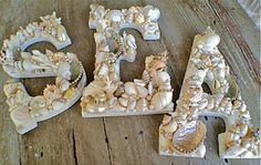 WOW! How to make Seashell covered Letters #DIY